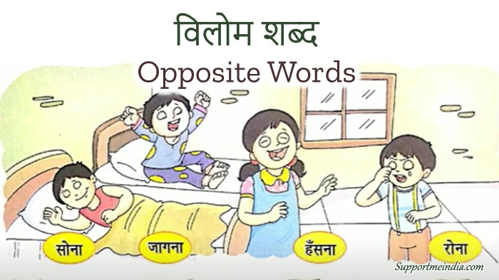 Vilom Shabd Opposite words in hindi and english