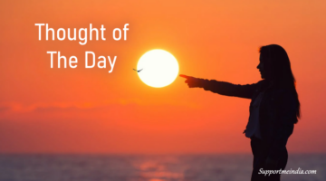 Thought of the day in english
